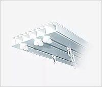 Карниз Эконом 2,4 м белый, 3х-рядный