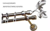 Карниз кованый MAGELLAN Арт Металл 2,4 м двухрядный, d16 мм